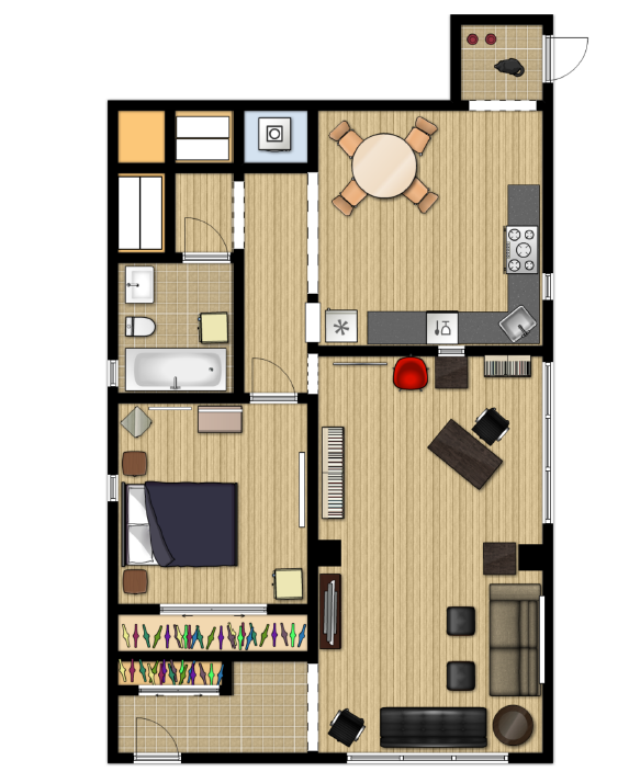 createlive designing room space with floorplanner
