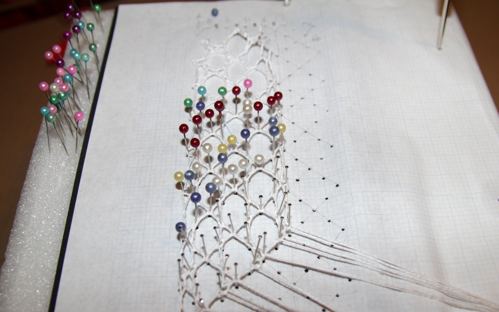 2nd attempt at bobbin lace