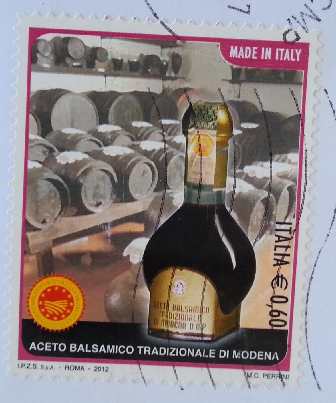 Aceto balsamico di Modena Francobollo