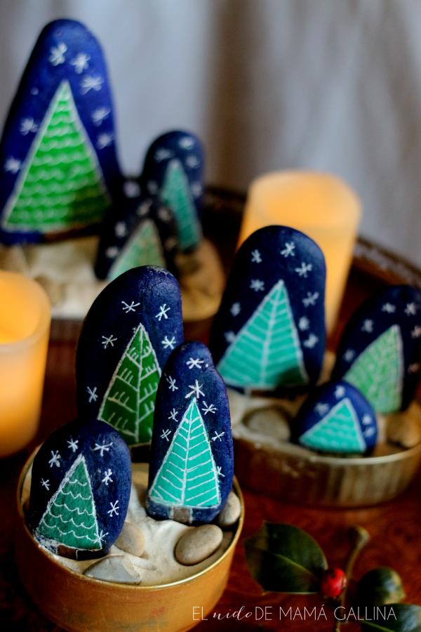 árbol de Navidad de piedra