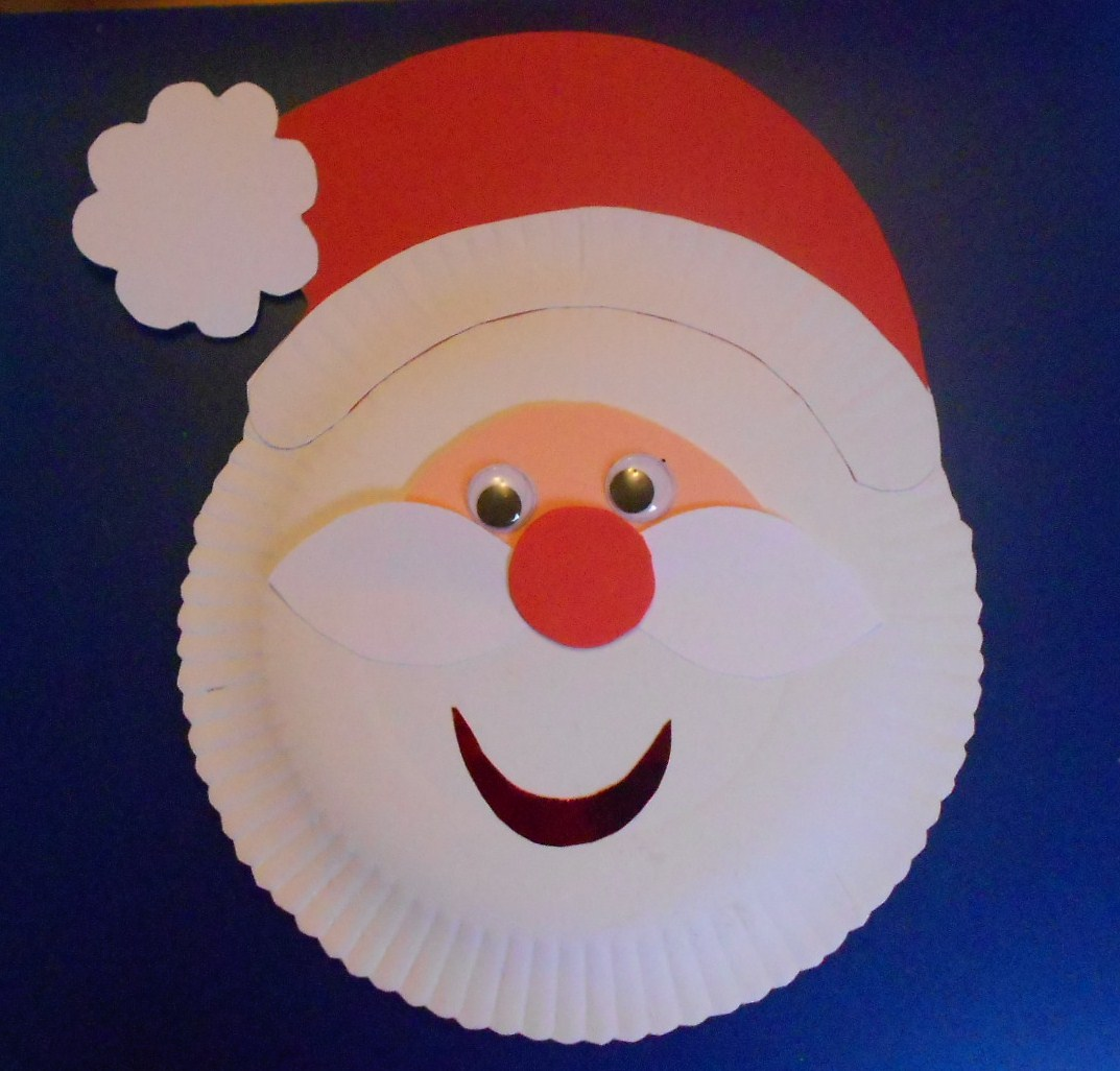 JamesMay Arts And Crafts Blog Paper Plate Santa