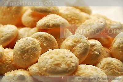 Merengues de coco y limón