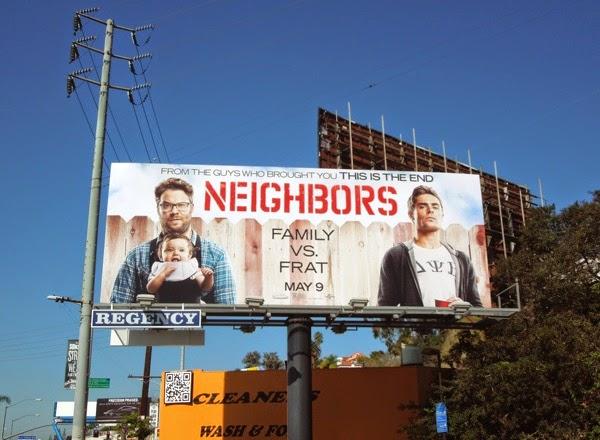 Neighbors movie billboard