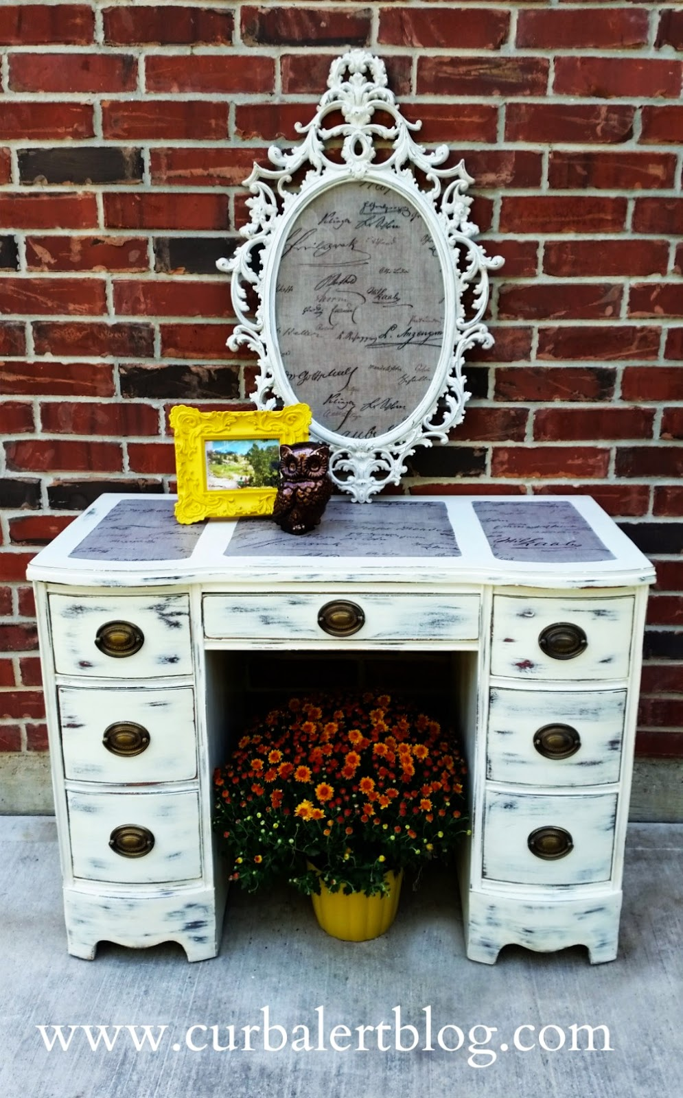 Curb alert themed furniture makeover words and letters for Furniture 5 letters word whizzle