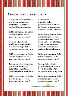 Campana sobre campaña Imprimir villacincos de navidad