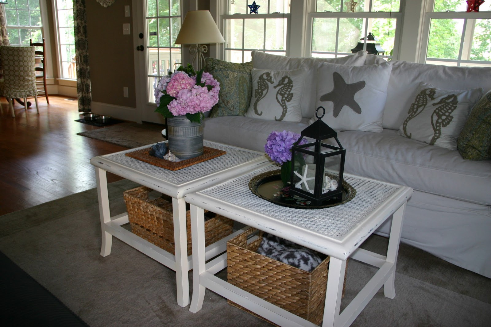 Cottage Blue Designs Staging The New Coffee Table