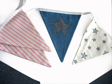 Boys Flag Bunting - Stars & Denim