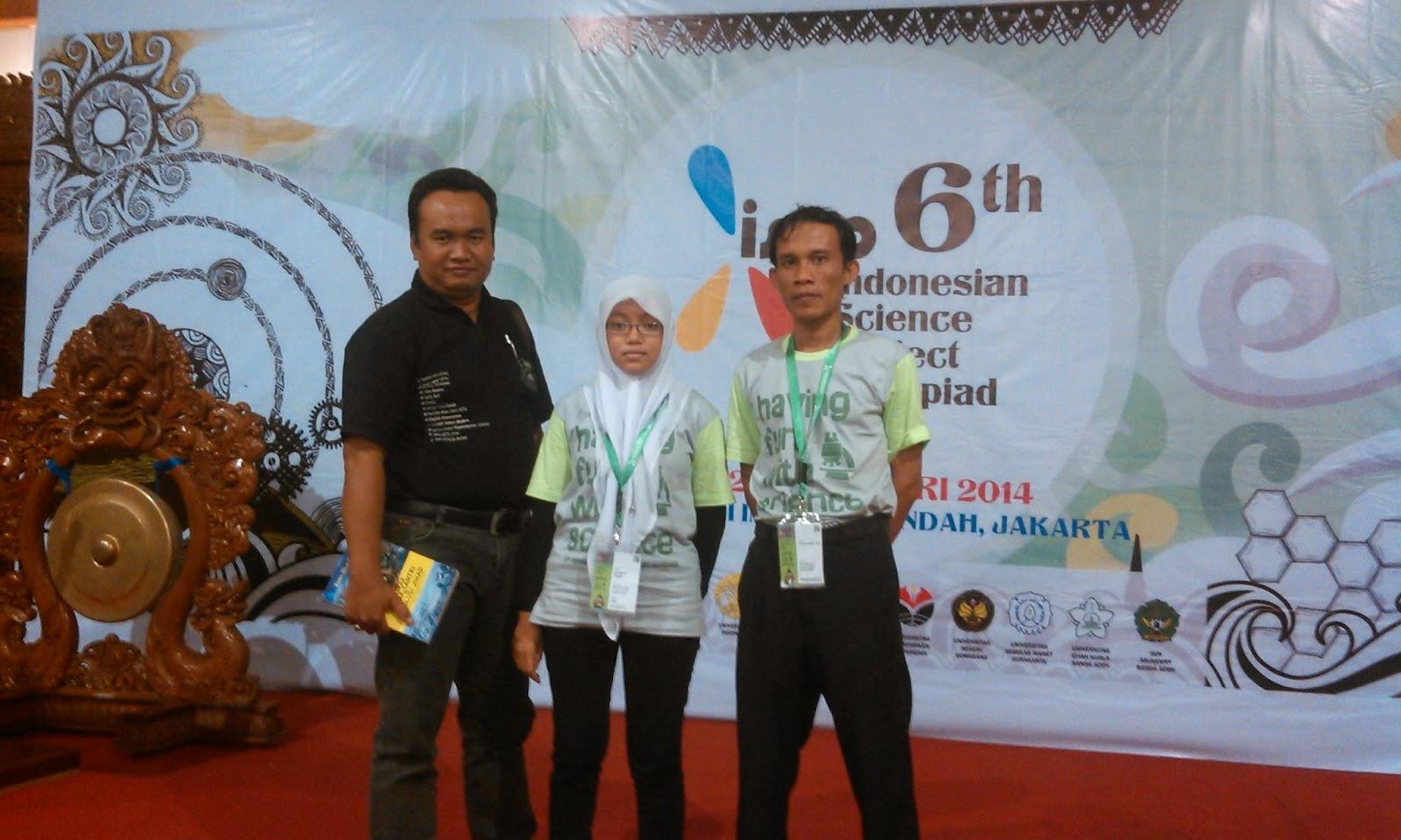 PENGALAMAN MENGIKUTI ISPO (Indonesia Science Project Olimpiad) 2014 di Taman Mini Indonesia Indah JAKARTA