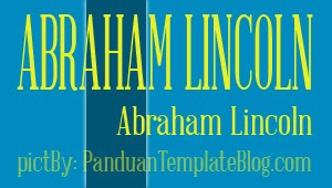 Font Gratis Untuk Design - Abraham Lincoln