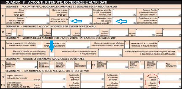 Cedolare secca e sconti fiscali 2017 come inserire i dati for Contratto cedolare secca modello