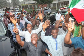 Check Out Nyeson Wike And Well Wishers Celebrating Supreme Court Victory (Photos)