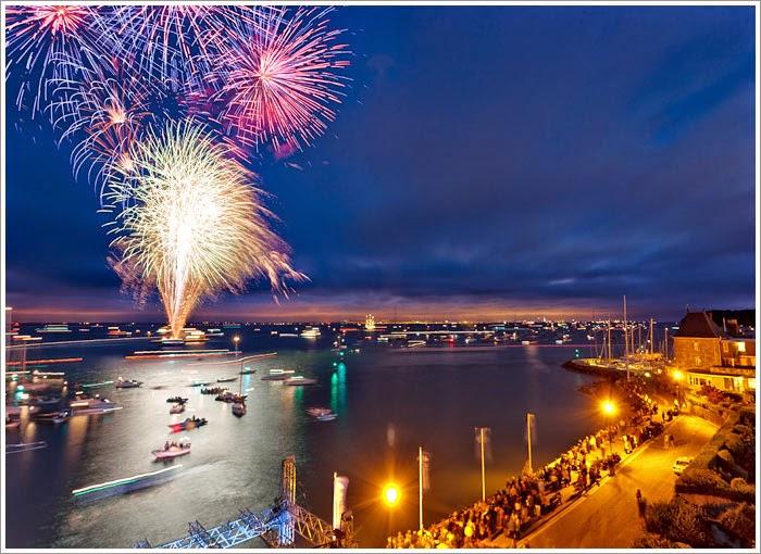 Fireworks at Cowes Week