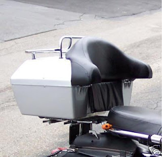 Motorcycle Trunks with Passenger Backrest