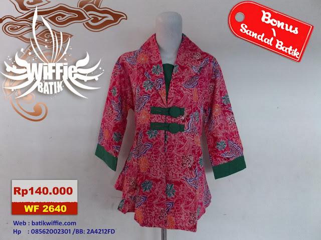 Blus Batik Cantik Pink