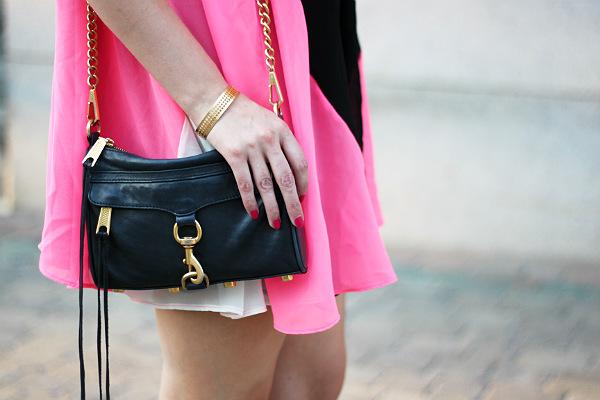 rebecca minkoff mini mac, black bag with gold hardware, rebecca minkoff, rebecca minkoff black mini mac