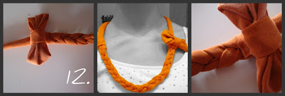 recyclint t-shirt for braided necklace