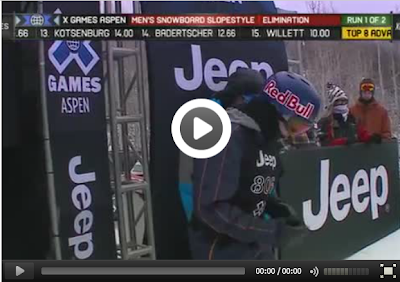 Выступление Марка Морриса на Winter X-Games 2013. Слоупстайл.