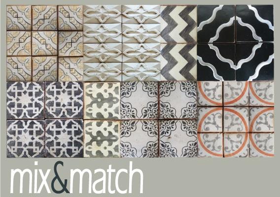 Piastrelle Marocchine Milano : Mix match di piastrelle di arredamento e interni dettagli