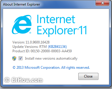 Internet Explorer is now available for Windows 7