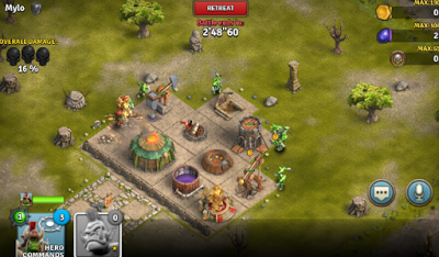 Heroes of War Orcs vs Knights v1.2.7 Apk Hack Mega Mod Terbaru 2016