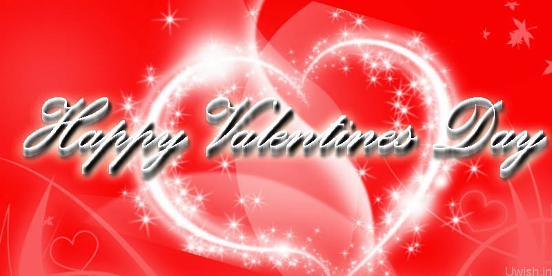 Happy Valentines Day greetings and wishes with white little hearts