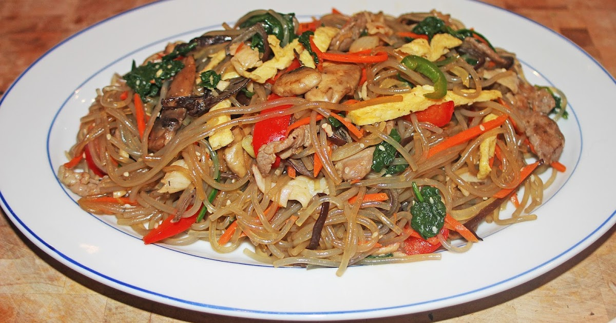 The Grub Files: Cooking with Camissonia: Japchae (Korean ...