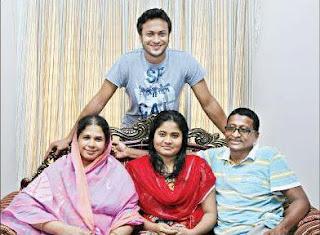shakib al hasan with his family