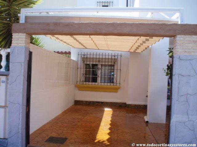 Decoracion interior cortinas verticales estores - Toldos para patios precios ...