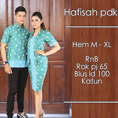 Model baju batik pasangan jumputan biru