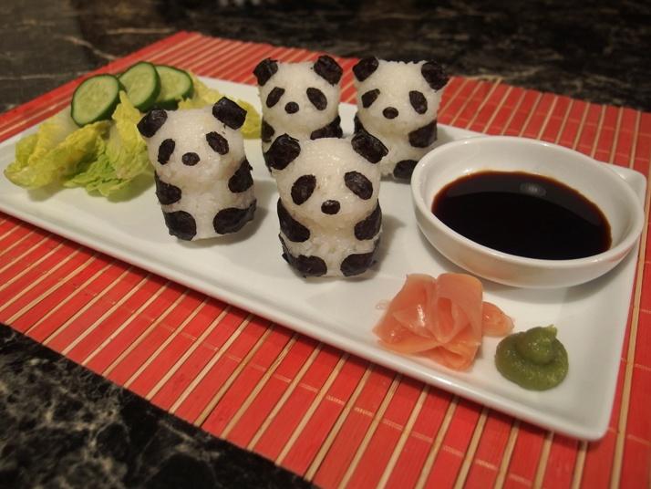 panda sushi cute