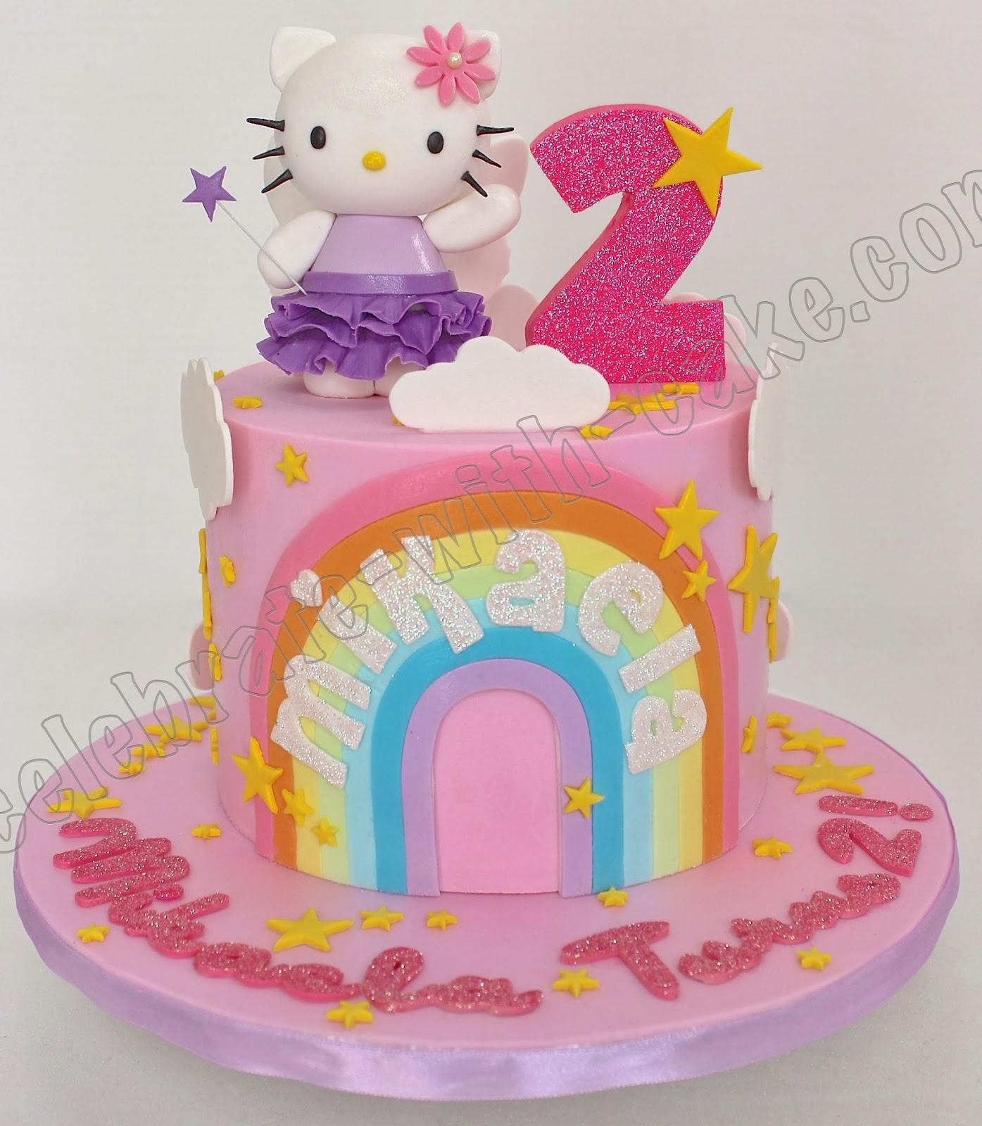Celebrate with Cake Hello Kitty Pastel Rainbow