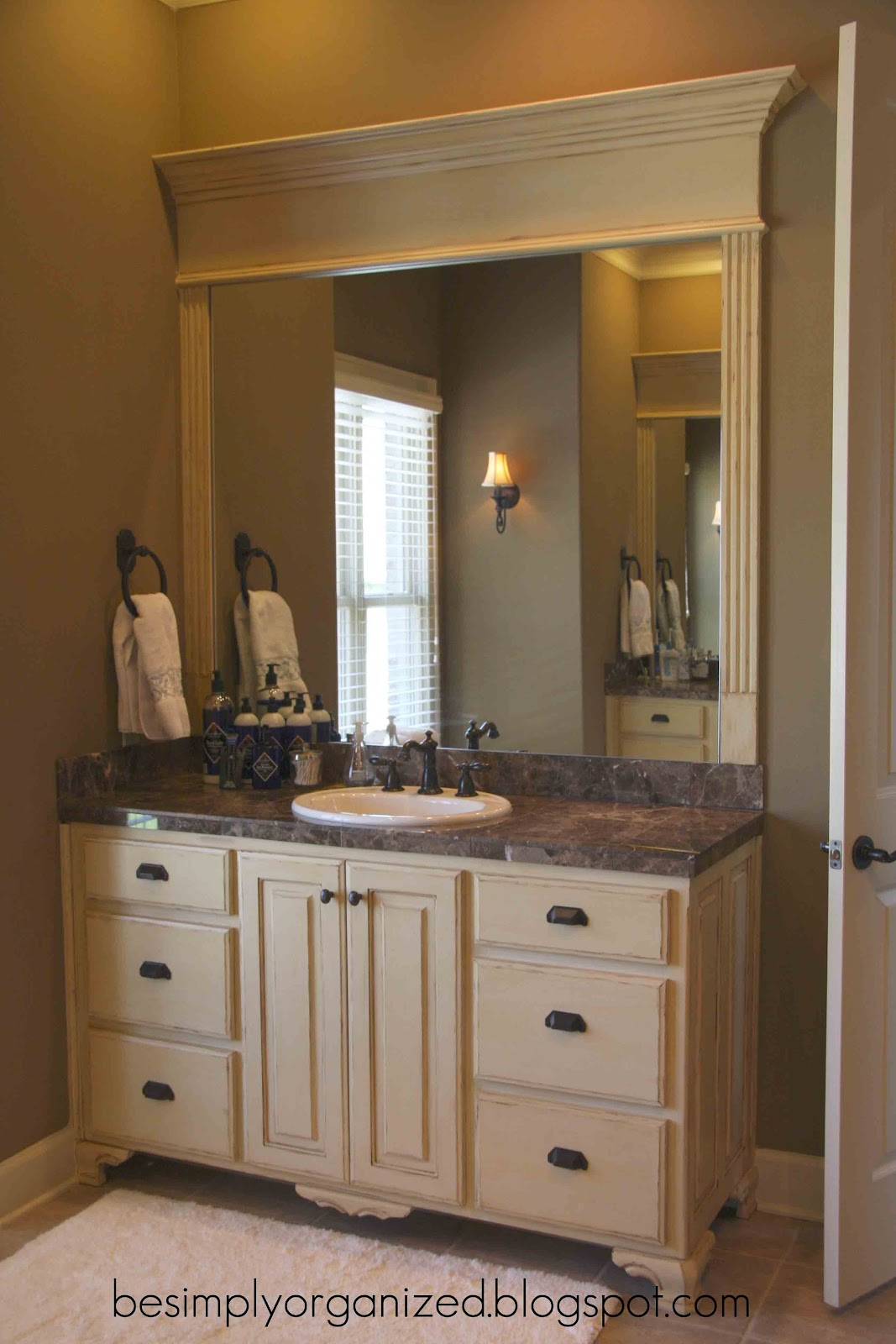 simply organized our master bathroom