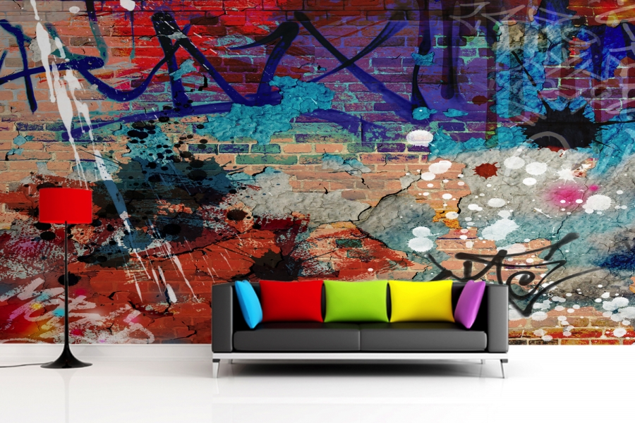 Graffiti wall murals amazing nails Painting graffiti on bedroom walls