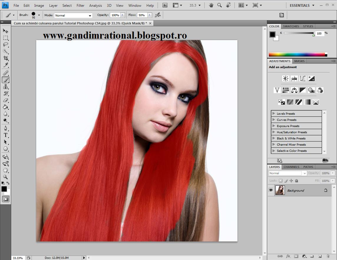 Cum sa schimbi culoarea parului Tutorial Photoshop CS4