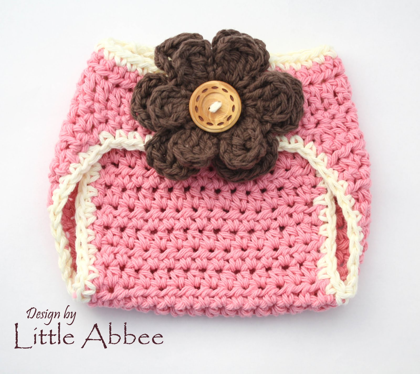 Crochet Baby Girl Diaper Cover Pattern : Little Abbee: Diaper Cover Crochet Pattern