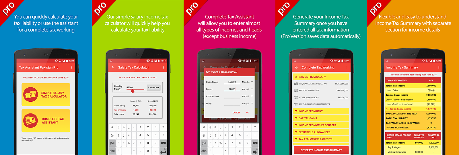 tax assistant pakistan is the first of its kind application for taxpayers based in pakistan it is meticulously designed to allow detailed tax working for tax assistant