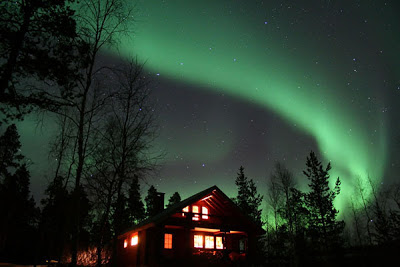 Hostel Jokitörmä and the Northern lights