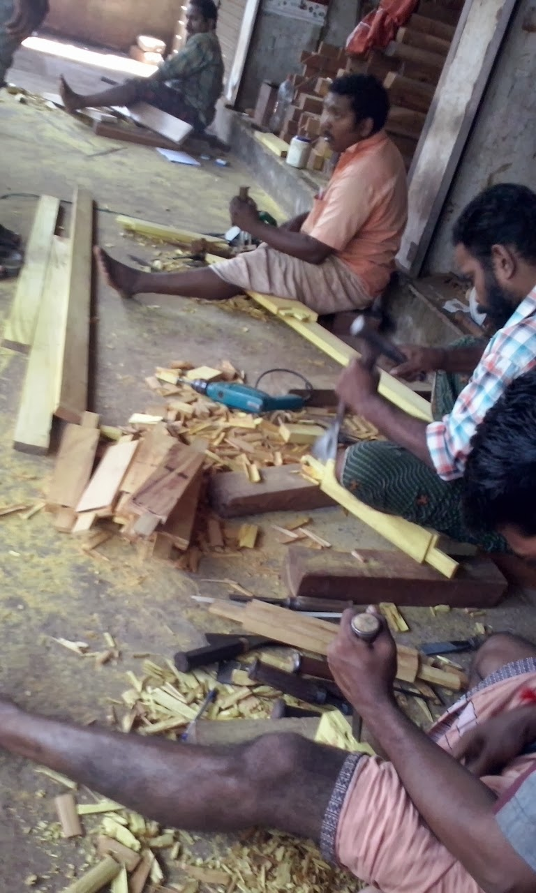 Kerala Style Carpenter Works For Home Wooden Window Designs Attractive Wood Furniture Exterior