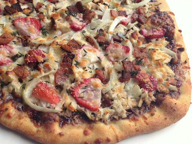 Strawberry Balsamic Bacon Pizza