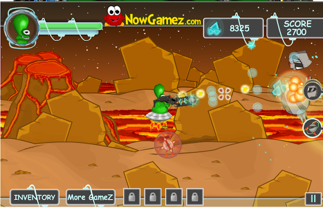 alien vs robots flash game upgrades