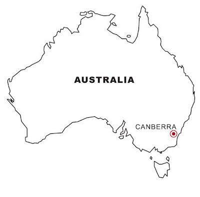 Mapa de Australia para colorear ~ 4 Dibujo