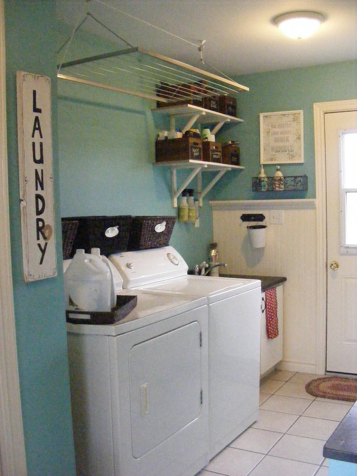 Organizing laundry room closet