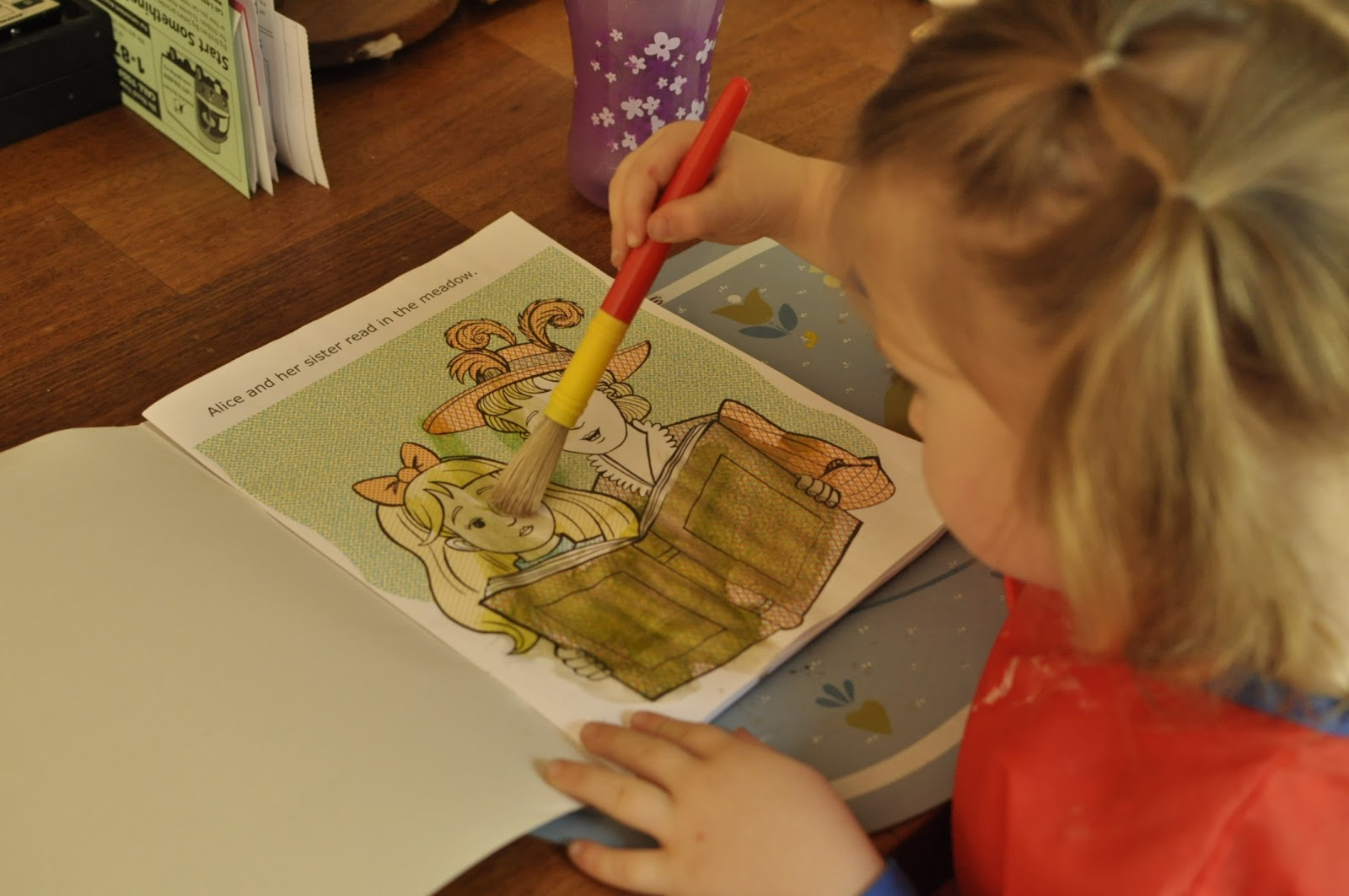 But Basically You Just Add Water To The Picture Book And It Turns Into A Painting Lilly Had Lots Of Fun Using