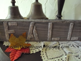 Eclectic Red Barn:Fall board with grey wash