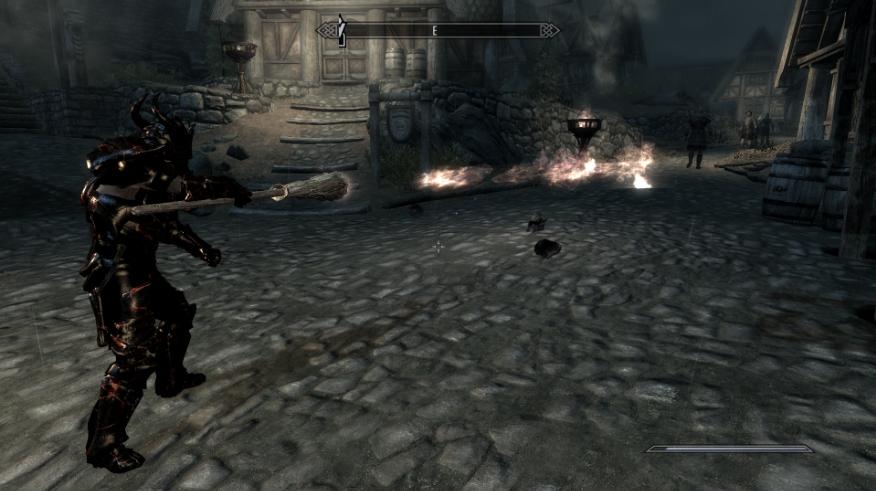 Elder Scrolls V Skyrim WEAPONS MOD PLAYABLE BROOM WEAPON 3