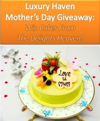 mother's day giveaway delights heaven mango almande cake