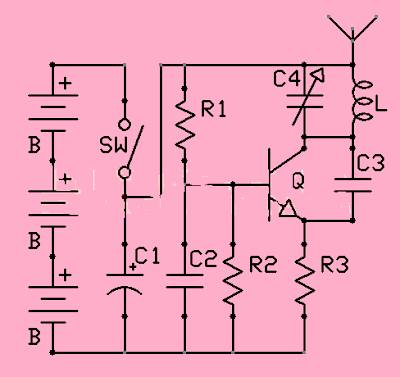 Super High Power Portable TV and FM Jammer Circuit Diagram