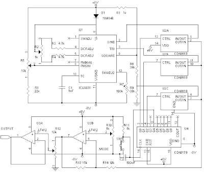 Audio Frequency Generator Circuit