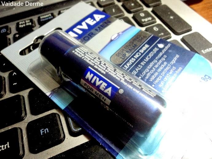 Hidratação + Proteção - Brilho | Nivea For Men Replenishing Lip Balm SPF 4