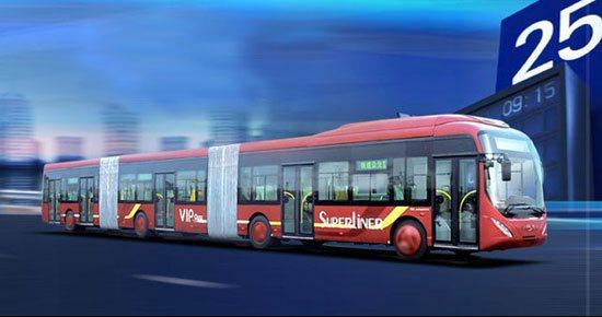 أكبر حافلة في العالم تنقل 300 شخص في المرة الواحدة!